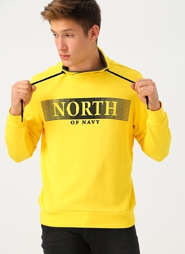 North Of Navy Sweatshirt Sarı
